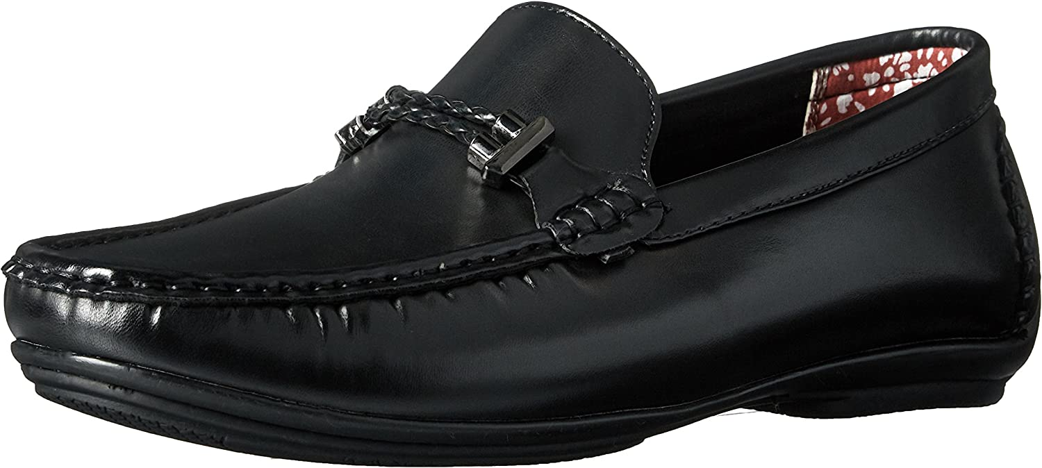 Stacy Adams Mens Percy - Braided Strap Driving Moc Oxford