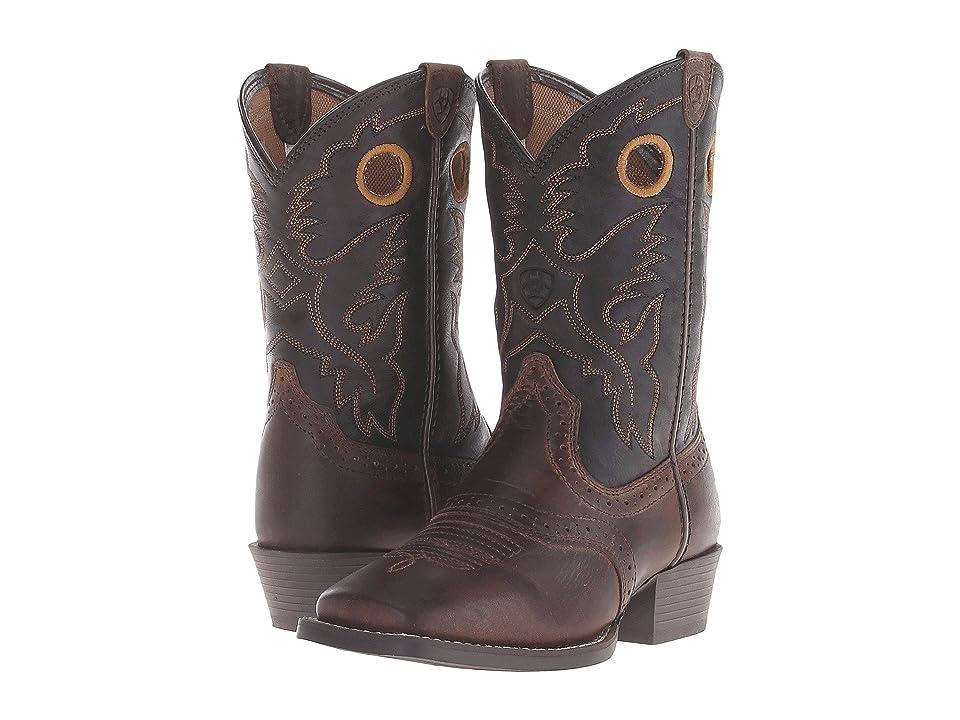 Ariat Kids Roughstock Distressed (Toddler/Little Kid/Big Kid) (Brown/Black) Cowboy Boots