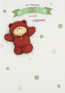Hallmark Forever Friends 1st Christmas Card 'for Son' - Medium