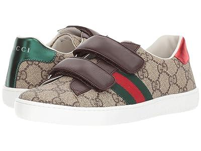 Gucci Kids New Ace V.L. Sneakers (Little Kid/Big Kid) (Beige Multi) Kids Shoes