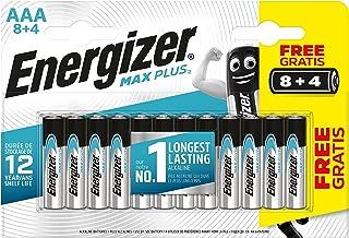 Energizer MAX PLUS - Pack de 8+4 Pilas alcalinas AAA / LR03