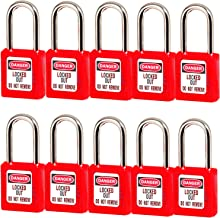 Lockout Tagout Locks, Safety Padlock,10 PCS with Number (Red 1-10)