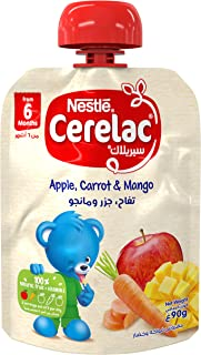 Nestlé CERELAC Fruits & Vegetables Puree Pouch Apple Carrot Mango 90g