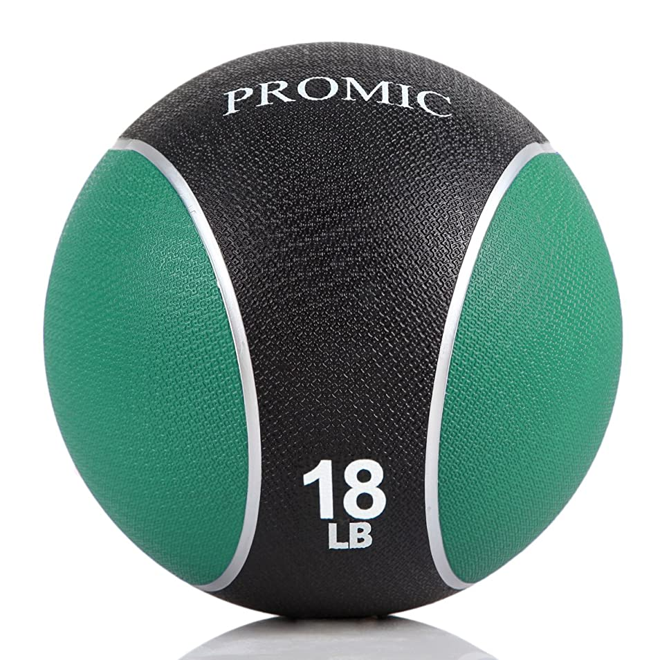 カリング保証する中間PROMIC Medicine Ball (2lb-22lb)、頑丈なゴム構造快適Texturedグリップfor強度トレーニング
