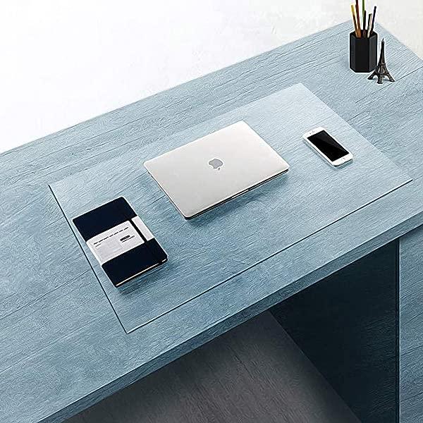 Clear Multifunctional Desk Pad Table Mat 35 4x15 8 BUBM PVC Rectangular PVC Table Cover Desk Pad Mat For Office Computer Desk