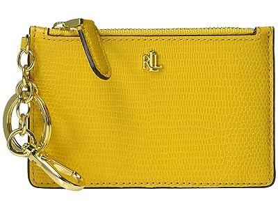LAUREN Ralph Lauren Lizard Embossed Zip Card Case Medium (Sundance) Handbags