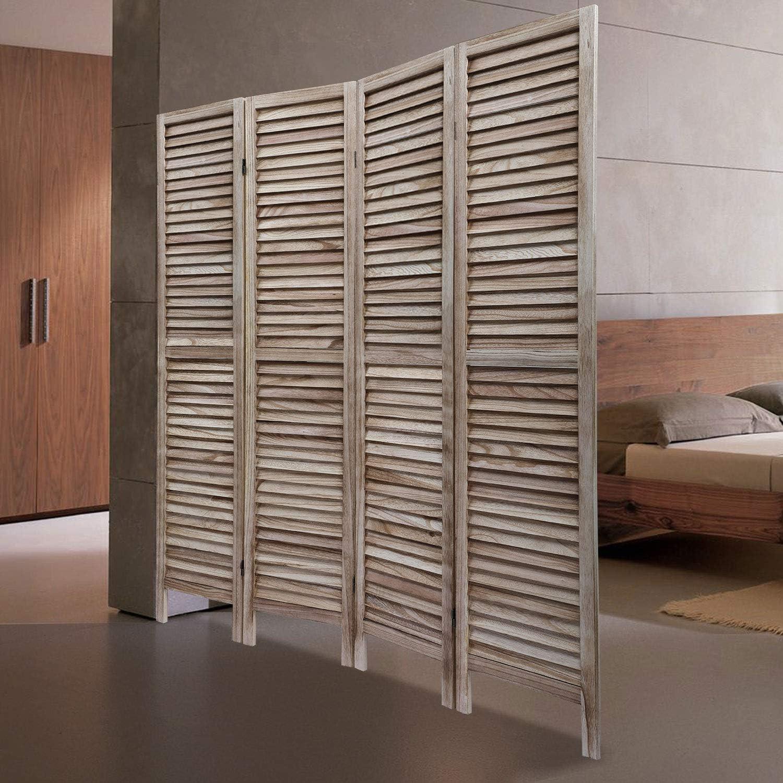 JAXSUNNY 4 Panel Wood Privacy Divider Ranking TOP1 Louver El Paso Mall Sycamore Room