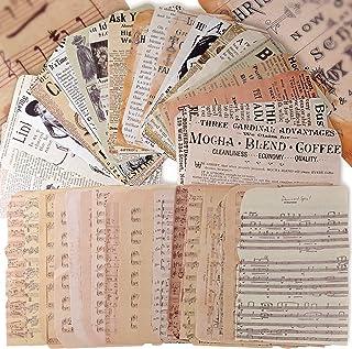 50Feuilles Papier Journal Vintage Scrapbooking Papeterie Décoratifs Rétro DIY Album Photo Décoration pour Artisanat Scrapb...