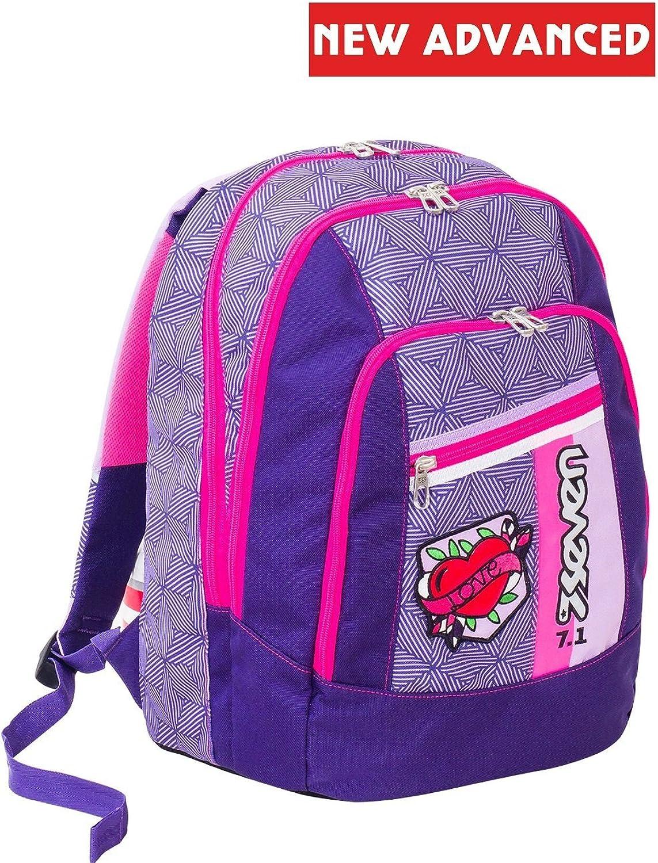 cómodo Backpack Backpack Backpack Seven Advanced Rebel Girl púrpura  ofrecemos varias marcas famosas
