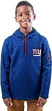 Ultra Game NFL Boys Extra Soft Fleece Quarter-Zip Pullover Hoodie Sweatshirt