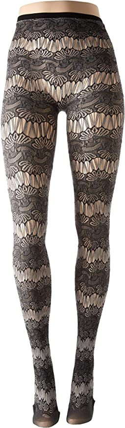Ornamental Lace Tights