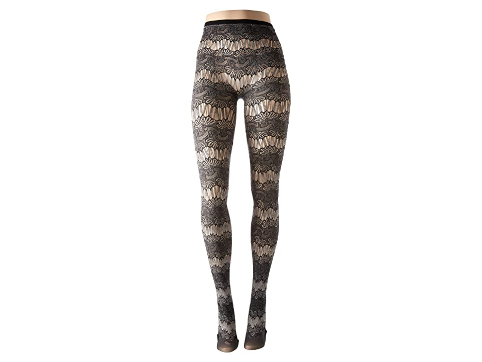 HUE Ornamental Lace Tights (Black) Hose