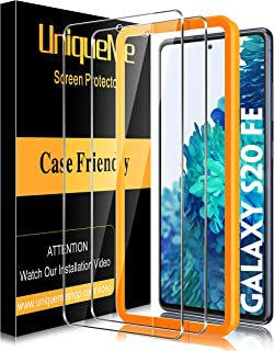 [2 Pack] UniqueMe Screen Protector for Samsung Galaxy S20 FE 5G/S20 Fan Edition Tempered Glass, [Case Friendly] 9H Hardnes...