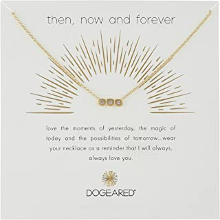 Then, Now and Forever, Small Bar with 3 Crystal Chain Necklace, 16