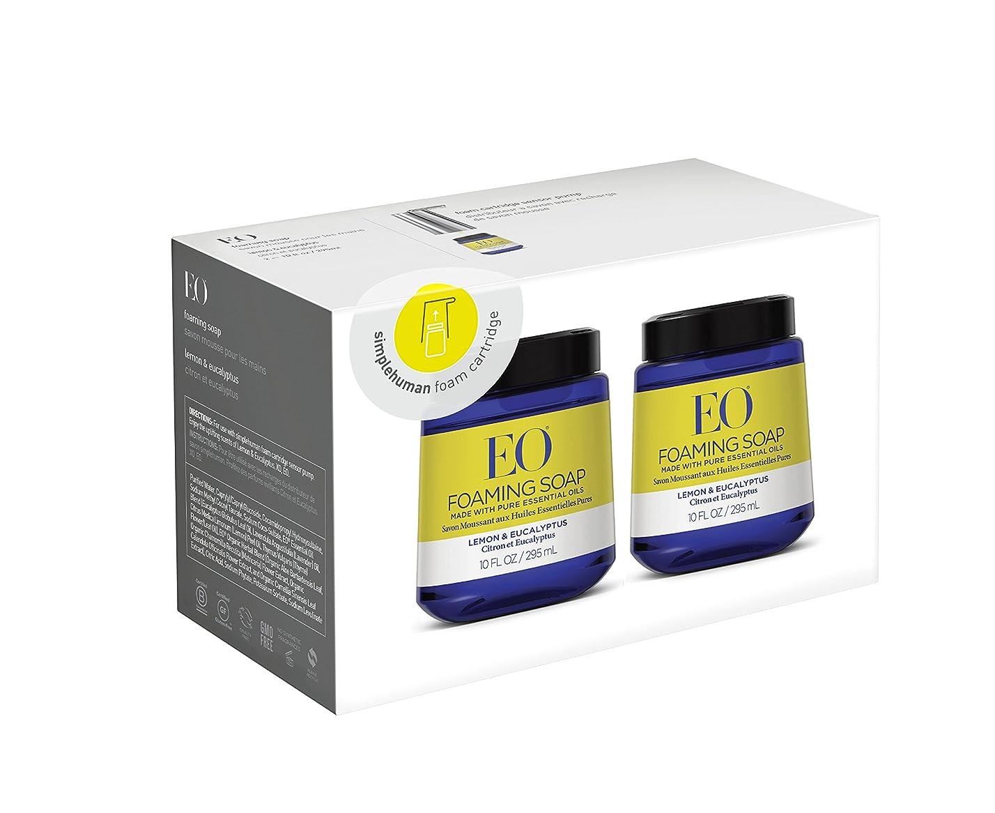データベース雰囲気光沢のあるEOレモンユーカリFoam Hand Soap, 10?fl。オンスFoamカートリッジ(2パック)
