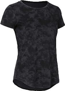 CRZ YOGA Women's Pima Cotton Short Sleeve Workout Shirt Yoga T-Shirt Athletic Tee Top