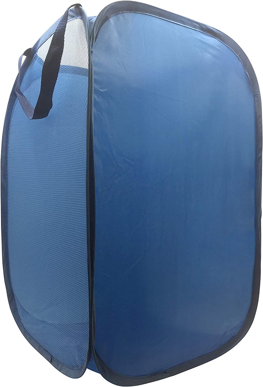 Trend Collector Blue Pop Max 55% OFF Up Hamper Basket - 5 ☆ very popular Bag wit Mesh Laundry