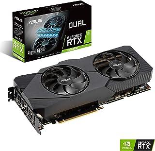 ASUS Dual GeForce RTX 2070 Super EVO Advanced Edition 8GB GDDR6 – Tarjeta gráfica (Ventiladores Axial-Tech, tecnología 0dB, diseño de 2,7 Ranuras, Auto-Extreme, Estructura Reforzada, GPU Tweak II)