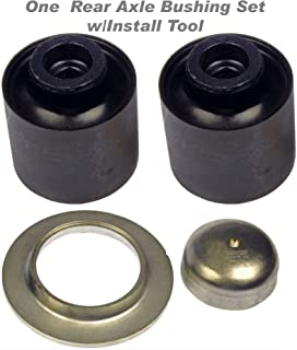 APDTY 634119 Rear Axle Bushing Set w/Install Tool (Rear Left & Right Included) For 2004-2011 Chevy Aveo / 2007-2010 Pontiac G3 (Repairs GM 96535111, 96494500, 96653128)