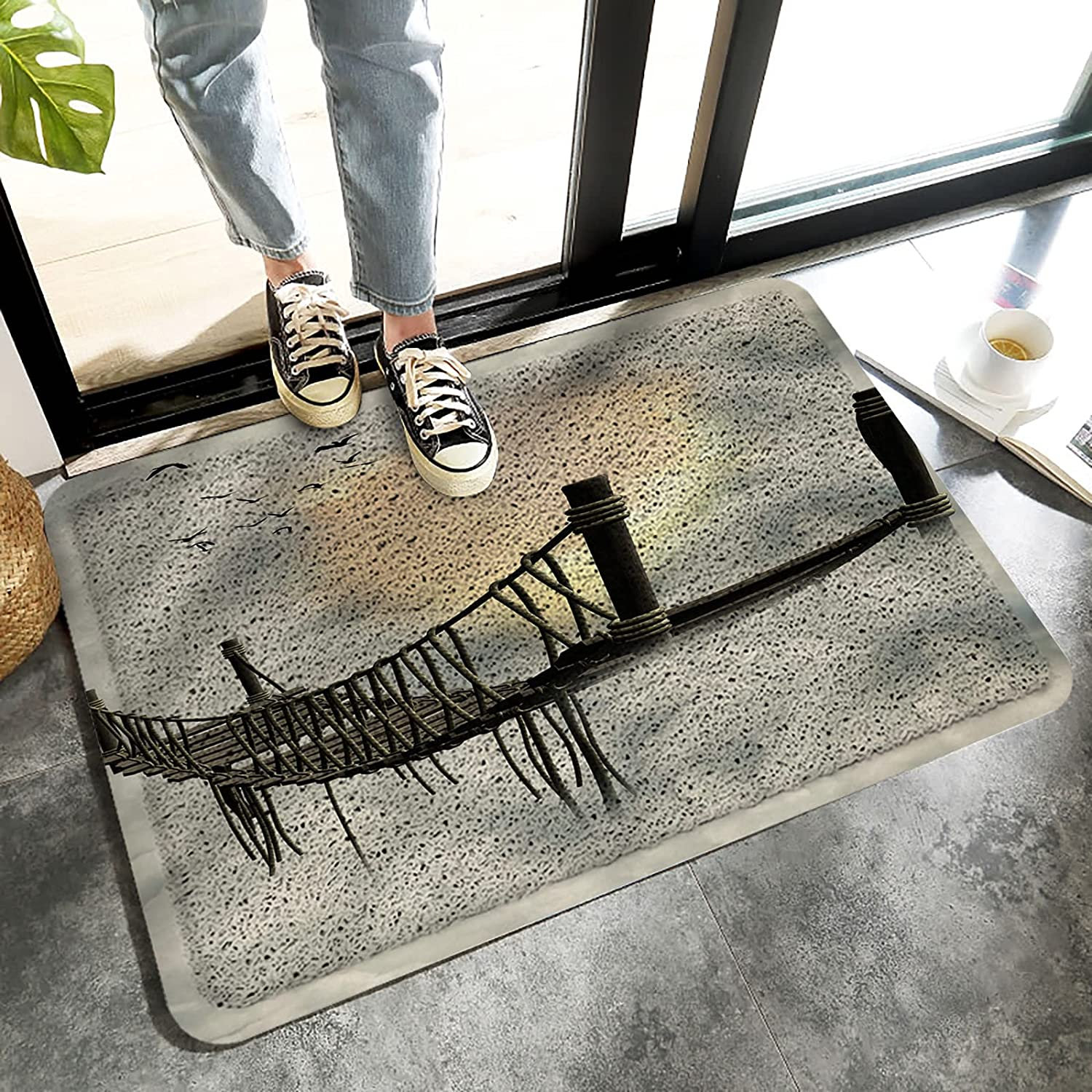 Welcome Mat Outdoor Front Some reservation safety Door Entrance Mats Non-Slip Duty Heavy