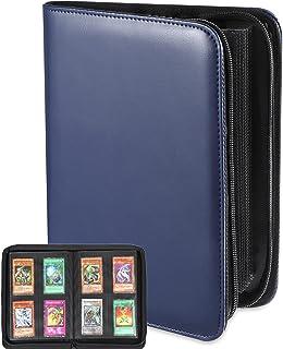 160 Pockets Trading Cards Binder Album, 4-Pocket Side Loading PP Card Sleeves, Zippered Yugioh Pokemon MTG Card Protection...