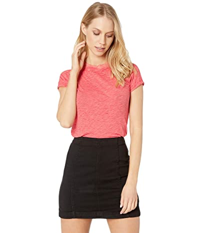 Free People Night Sky Tee Solid (Red) Women