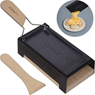 Cheese Raclette w Foldable Handle- Candlelight Cheese Melter Pan w Spatula and Candles- Melts in Under 4 Minutes- Makes a Great Gift