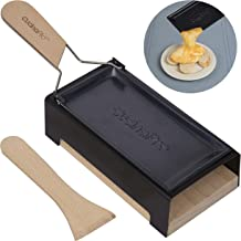 Cheese Raclette w Foldable Handle- Candlelight Cheese Melter Pan w Spatula and Candles- Melts in Under 4 Minutes- Great Valentines Day Gift