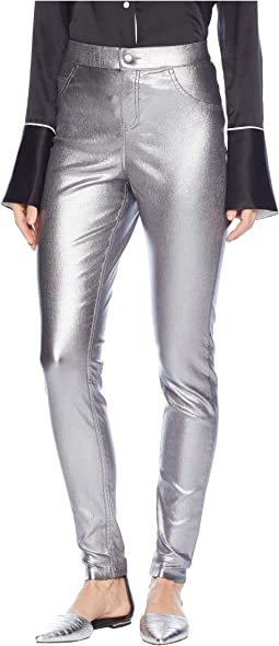 Iridescent Metallic Denim Leggings
