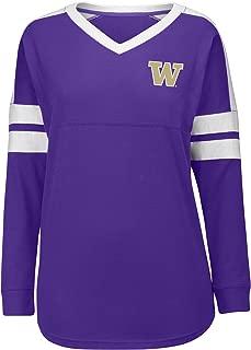 J America NCAA Washington Huskies Women's Gotta Have It Cheer Tee, Medium, Purple/White