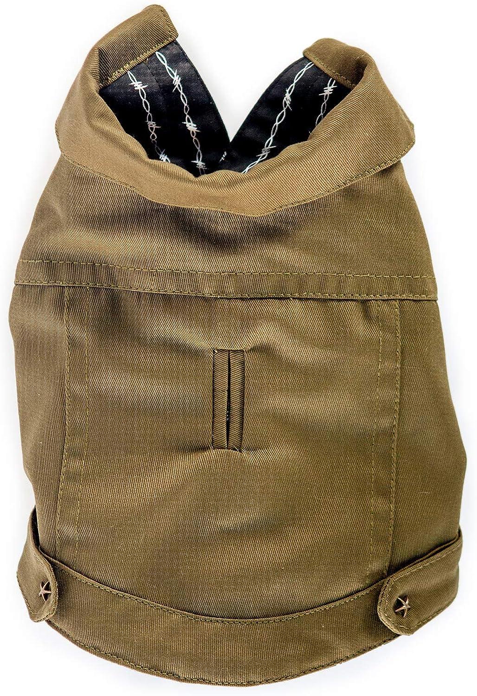 Barklyn New Yorkiebb Dog Army Jacket (Small)