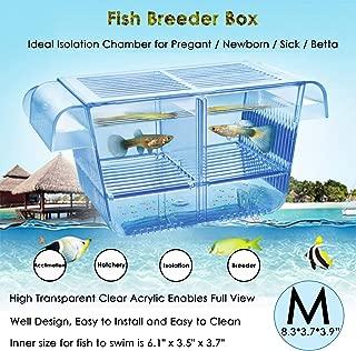 capetsma Fish Breeding Box, Acrylic Fish Isolation Box with Suction Cups, Aquarium..