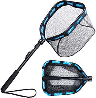 PLUSINNO Floating Fishing Net for Steelhead, Salmon, Fly, Kayak, Catfish, Bass, Trout..