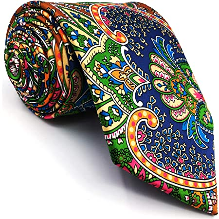 Shlax&Wing Multicolor Mens Ties Neckties Paisley Red Green Yellow