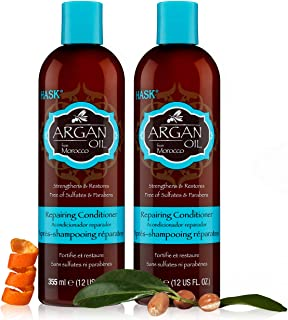 HASK Beauty ARGAN OIL Conditioners for all hair types, free of phthalates, sulfate-free, paraben-free, and gluten-free - A...