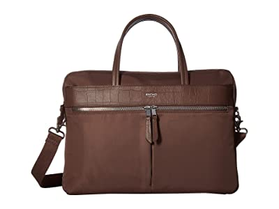 KNOMO London Mayfair Hanover 14 Slim Laptop Brief (Fig) Briefcase Bags