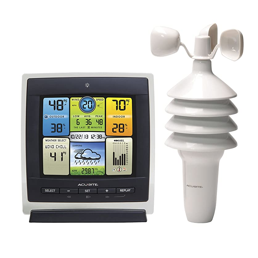溶ける面積コミュニティAcuRite 00589 Pro Color Weather Station with Wind Speed, Temperature and Humidity by AcuRite [並行輸入品]