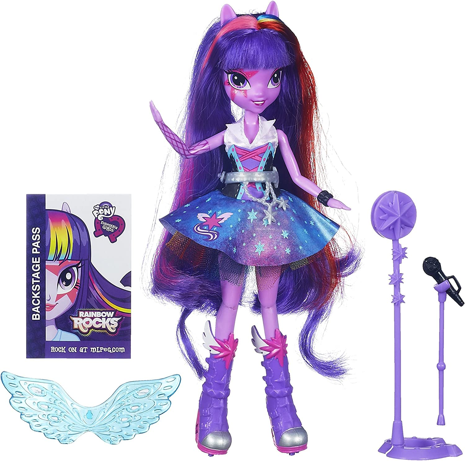 My Little Pony Toy  Equestria Girls  Rainbow Rocks  Singing Twilight Sparkle Deluxe Fashion Doll