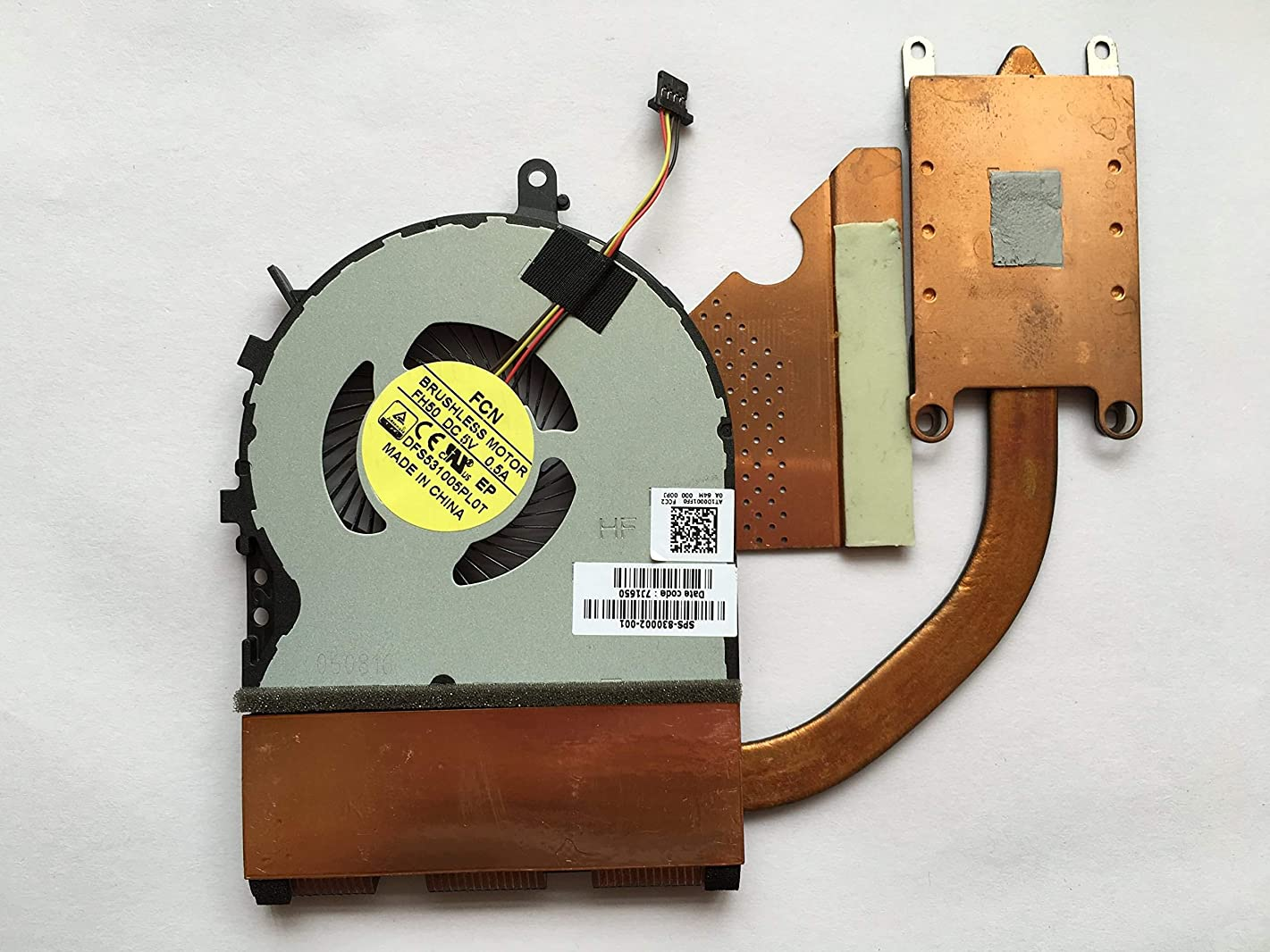 wangpeng Replacement Fan for HP Envy 15T-AE 15T-AE100 Series CPU Cooling Fan with Heatsink 4-Pin 4-Wire SPS 830002-001