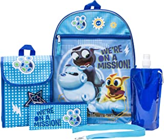 Puppy Dog Pals Backpack Combo Set - Disney Puppy Dog Pals Boys' 6 Piece Backpack Set - Bingo and Rolly Backpack & Lunch Kit (Light Blue)