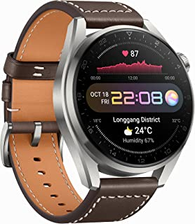 HUAWEI WATCH 3 Pro - 4G Titanium Smartwatch with 1.43'' AMOLED Sapphire Display, 5 Days Battery Life, 24/7 SpO2 and Heart ...