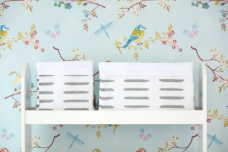 Aufbewahrungsbox f/ürs Bad KraftKids Stoff-K/örbchen in Waffel Piqu/é grau Gr/ö/ße 20 x 20 x 20 cm Aufbewahrungskorb f/ür Kinderzimmer