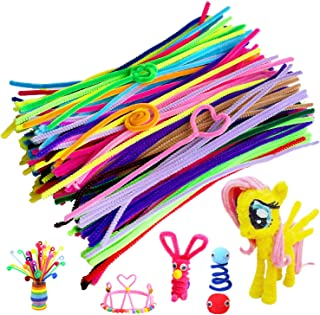 Acerich 300 Pcs Pipe Cleaners Assorted Colors Chenille Stems for Christmas DIY Art Craft Decorations (6 mm x 12 inch)