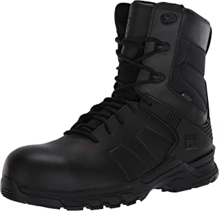 Timberland PRO Men's Hypercharge 8 Inch Composite Safety Toe Puncture Resistant Side-Zip Waterproof Tactical Duty Uniform ...