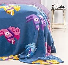 Character World Official Fortnite Llama Fleece Blanket Throw | Purple Llama Pinata Design Super Soft Blanket | Perfect For Any Bedroom