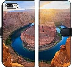 MSD Premium Phone Case Designed for iPhone 7 Plus and iPhone 8 Plus Flip Fabric Wallet Case Image ID: 31370415 Amazing Vista of Horseshoe Bend in Page Arizona
