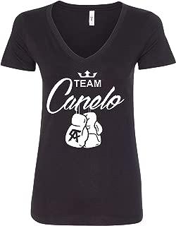 Team Canelo Boxing Gloves White Logo Women's T-Shirt