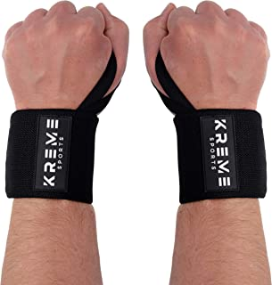 Kreme Wrist Wraps for Weightlifting,  Pink Camo Wrist Straps for Strength Training,  Powerlifting,  Exercise,  Wrist Support and Protection for Weight Lifting,  Crossfit Training and Yoga,  18 inch Pair