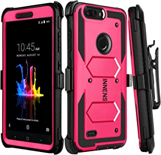 Best Innens Compatible with ZTE Blade Z Max Case, ZTE Sequoia Case, ZTE ZMax Pro 2 Case, ZTE Z982 Case, Hybrid Heavy Duty Anti-Scratch Shockproof Protective Case with Kickstand Belt Clip (Rose) Review