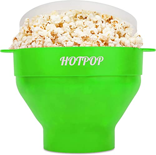 The Original Hotpop Microwave Popcorn Popper, Silicone Popcorn Maker, Collapsible Bowl Bpa Free and Dishwasher Safe- ...